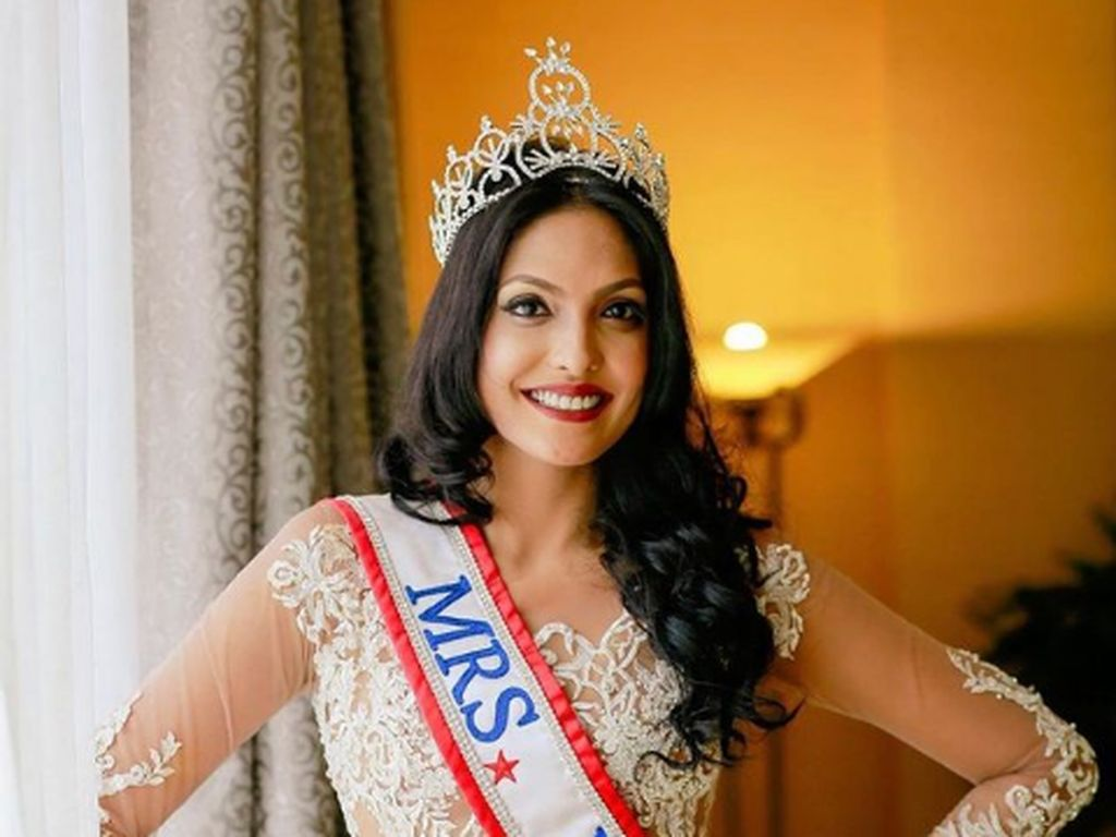 Profil Caroline Jurie, Mrs. World Ditahan karena Rebut Mahkota Mrs Sri Lanka