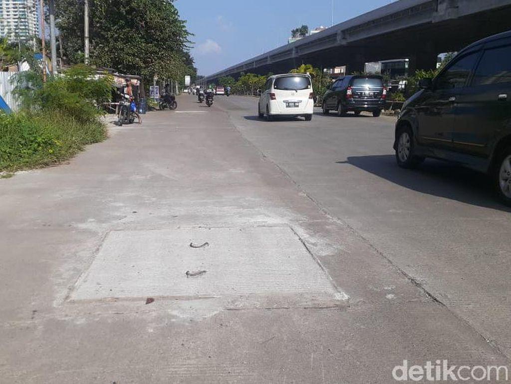 Tutup Gorong-gorong dan Lubang Jl KH Noer Ali Bekasi Sudah Diperbaiki