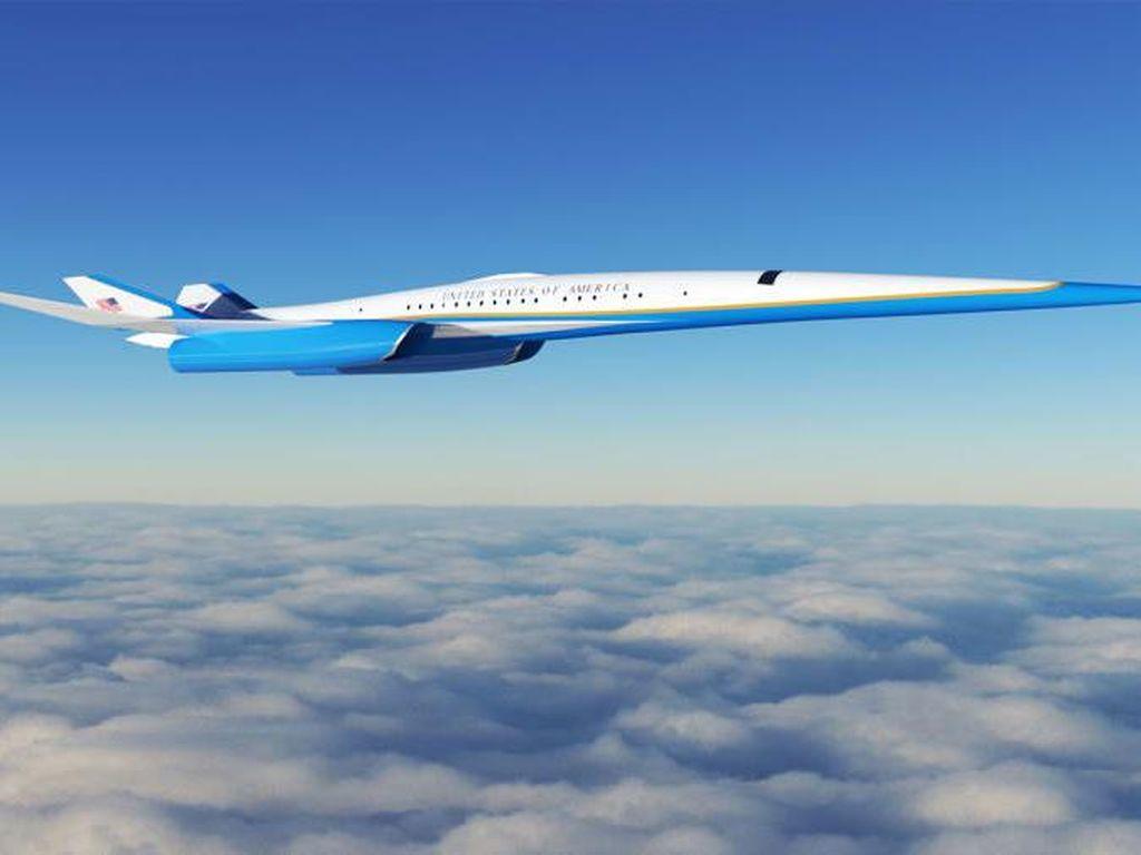 Eksklusif! Ini Kabin Pesawat Supersonik Kepresidenan AS