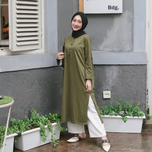 Tunik hijau army