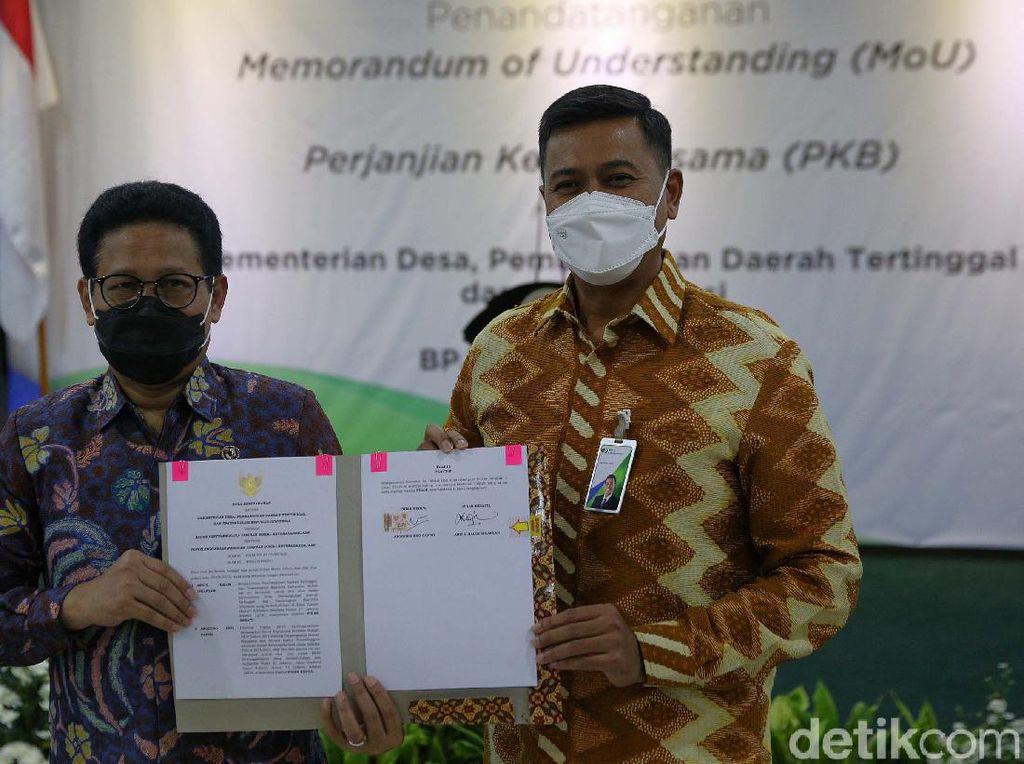 BP Jamsostek Gandeng Kemendes Lindungi TPP Desa