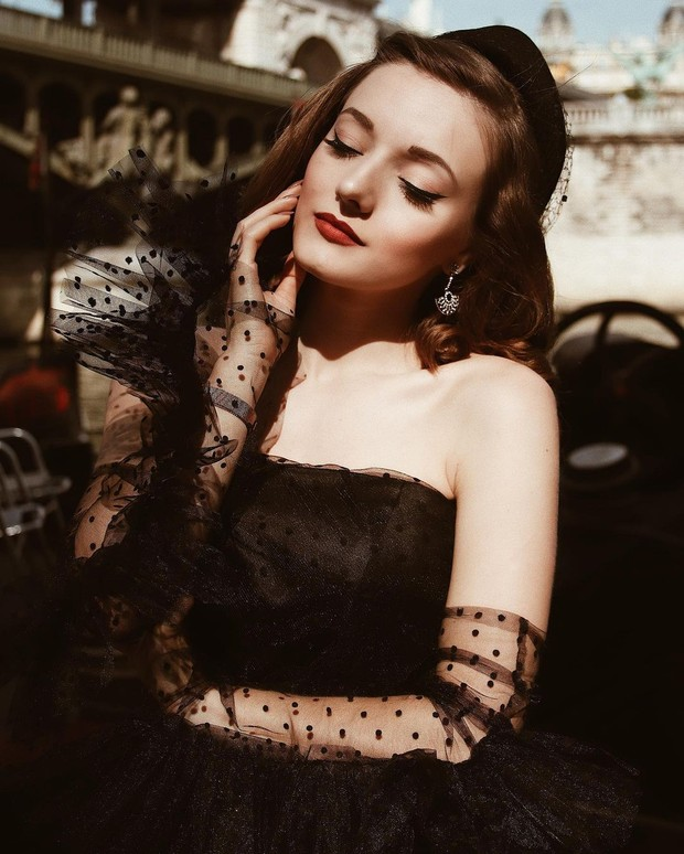 Elegant Black Tulle