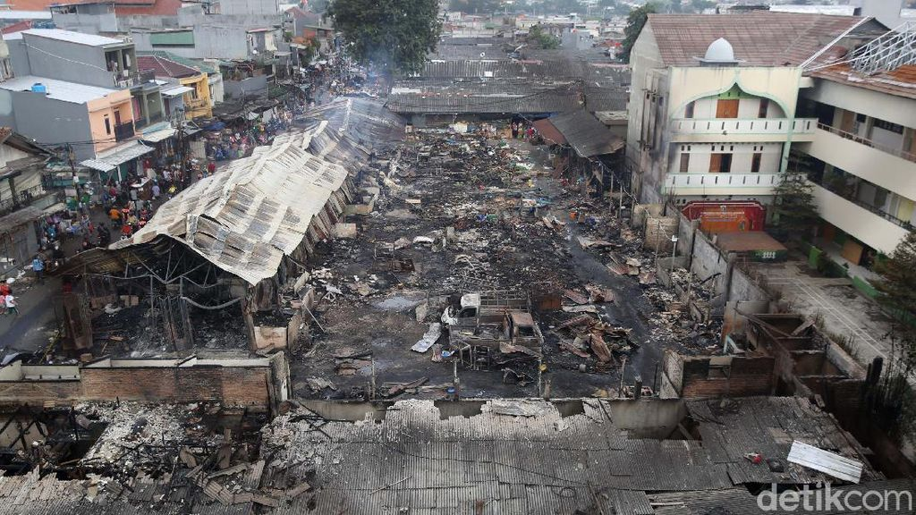 Kondisi Terkini Pasar Kambing Tanah Abang yang Ludes Terbakar