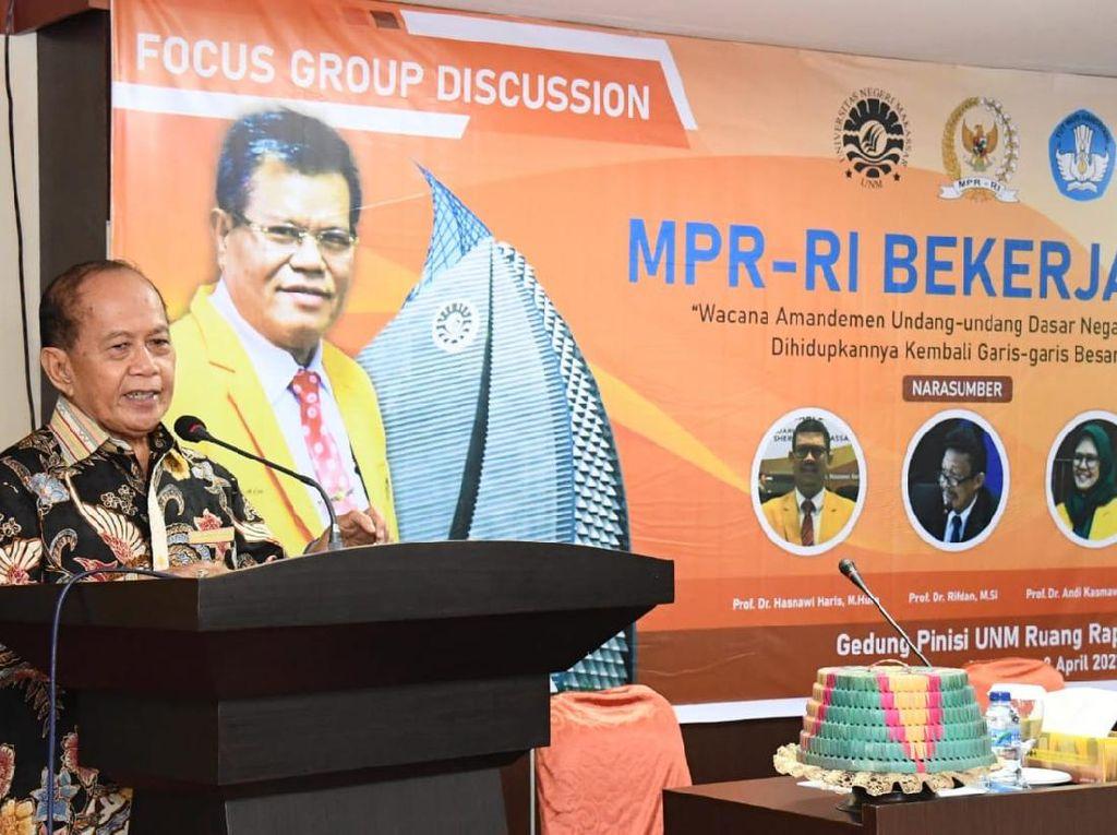 Gelar FGD,  Wakil Ketua MPR Tampung Aspirasi Akademisi Soal GBHN