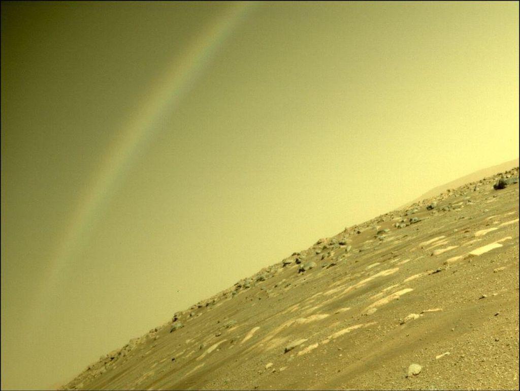 Heboh Penampakan Pelangi di Mars, Ini Kata NASA