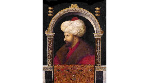 Mehmed II https://commons.wikimedia.org/wiki/File:Bellini_Centile._%22Sultan_II_Mehmet%22._1480._Milli_qalereya,_London.jpg