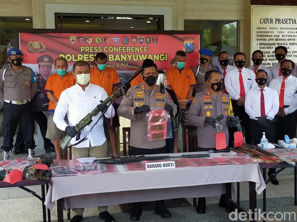 Polisi Gerebek Home Industry Senjata Api Rakitan di Banyuwangi