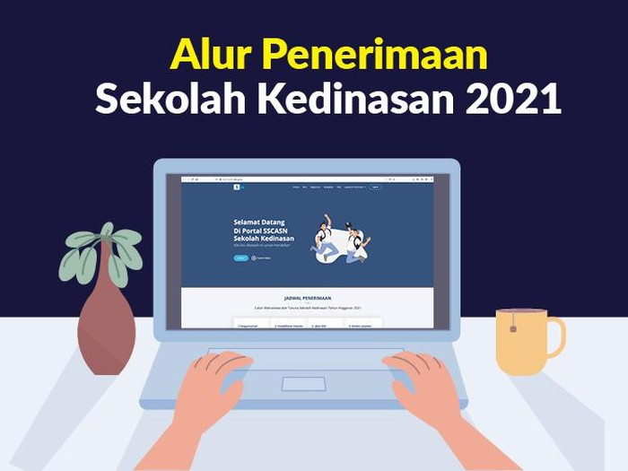 Infografis Alur Penerimaan Sekolah Kedinasan 2021