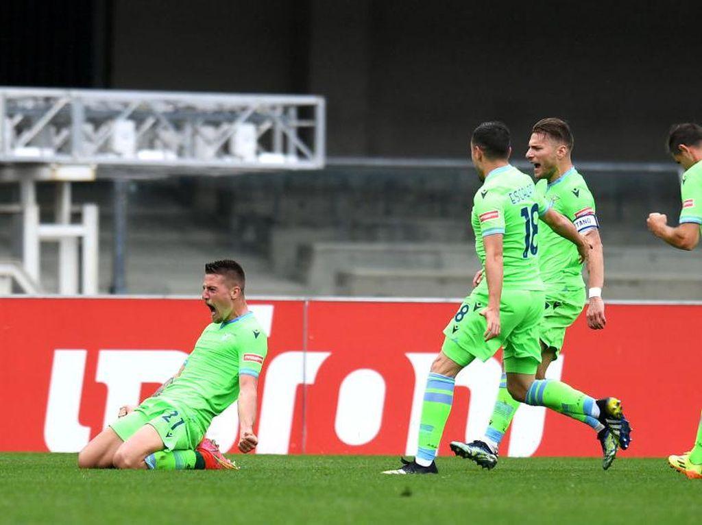 Verona Vs Lazio: Gol Injury Time Menangkan Biancoceleste