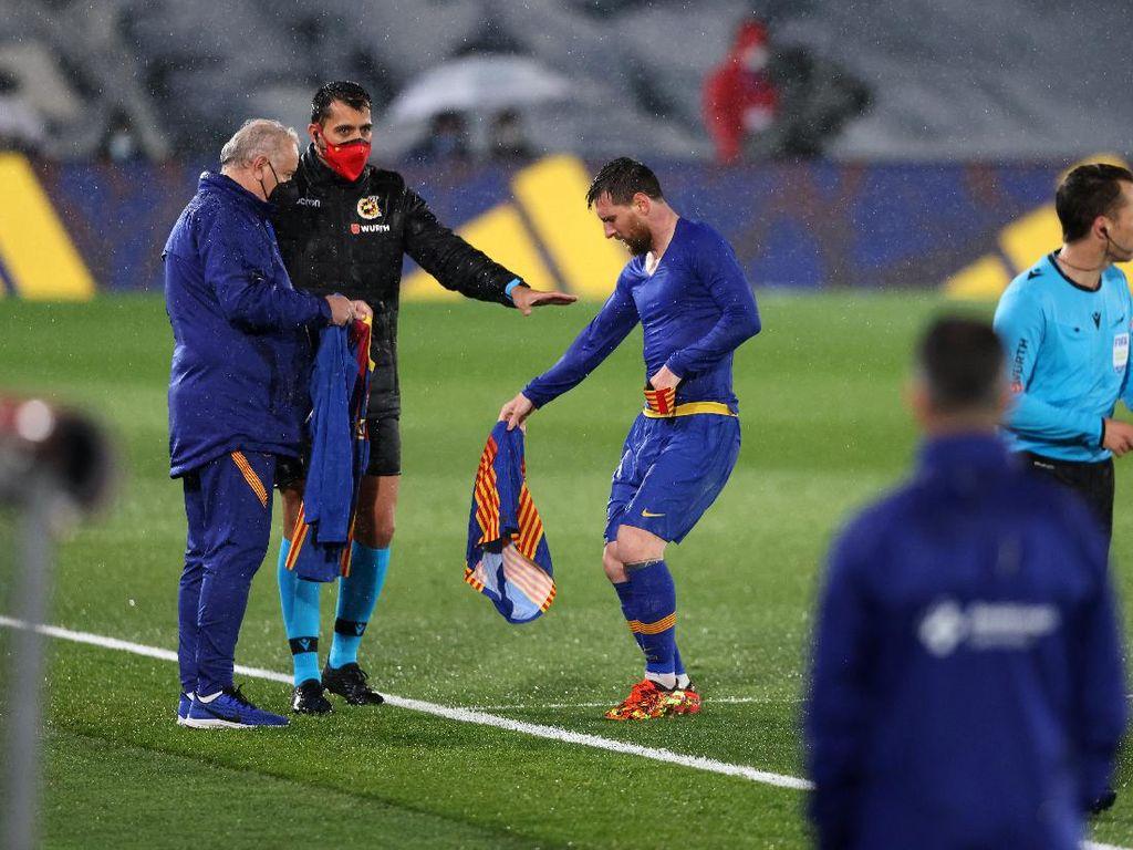 Messi Menggigil Saat El Clasico, Tangan Sampai Gemetar!