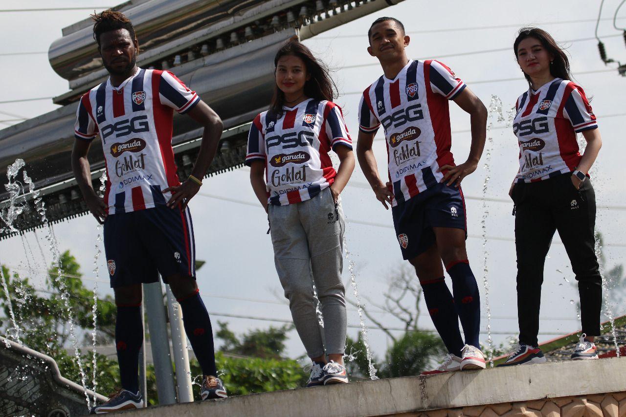 PSG Pati merilis jersey kandang untuk musim 2021.