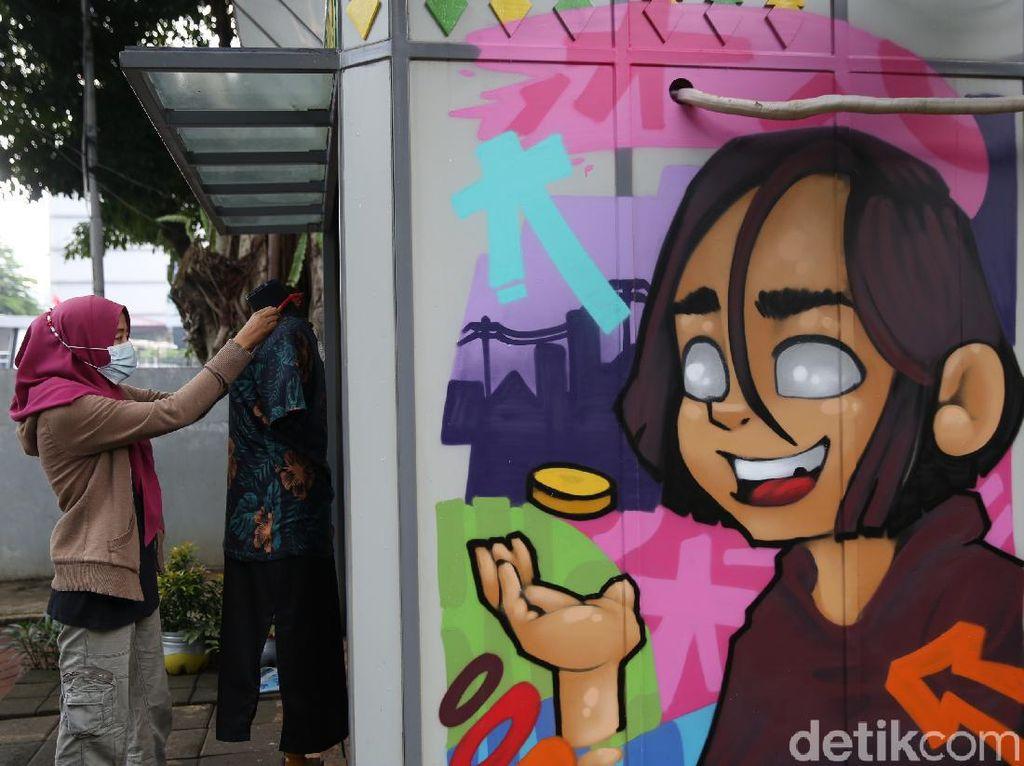 Warna-warni Mural Percantik Kios Pasar Jaya Menteng
