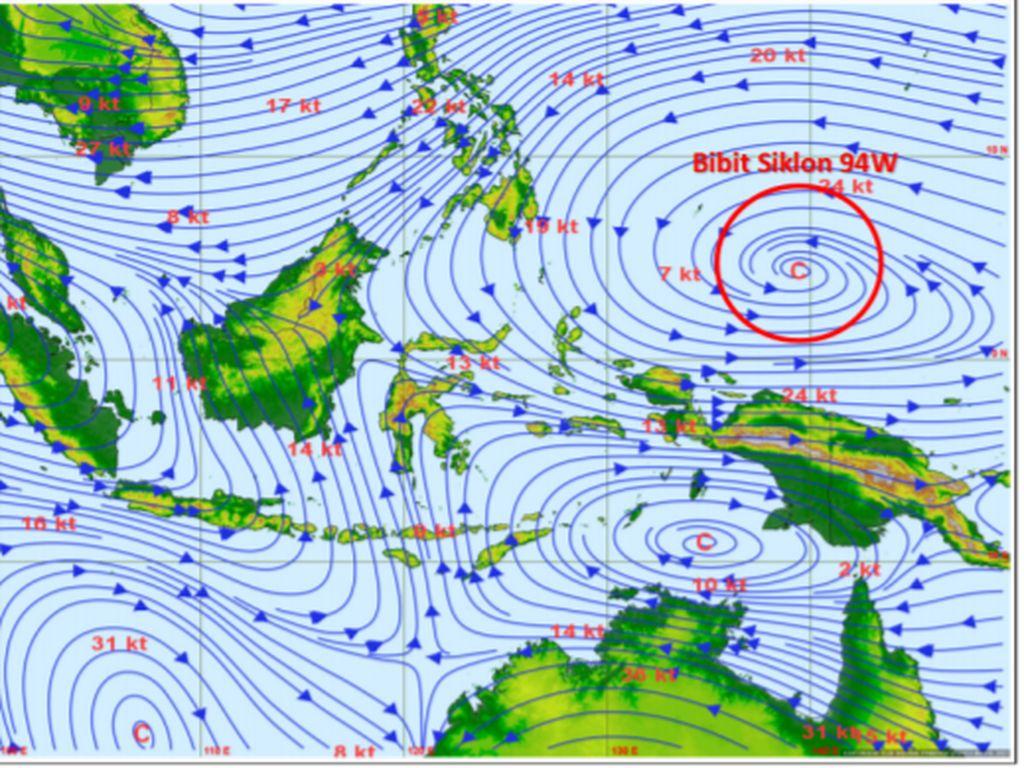 BMKG: Ada Bibit Siklon Tropis 94W, Sulut-Malut Waspada Banjir