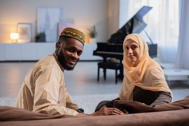 ilustrasi keluarga muslimah