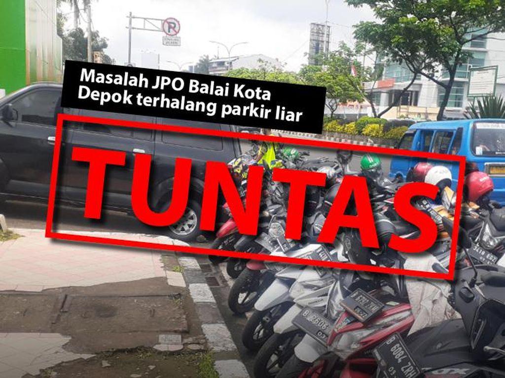 Before-After JPO Balai Kota Depok: Dulu Terhalang Parkir, Kini Tertib