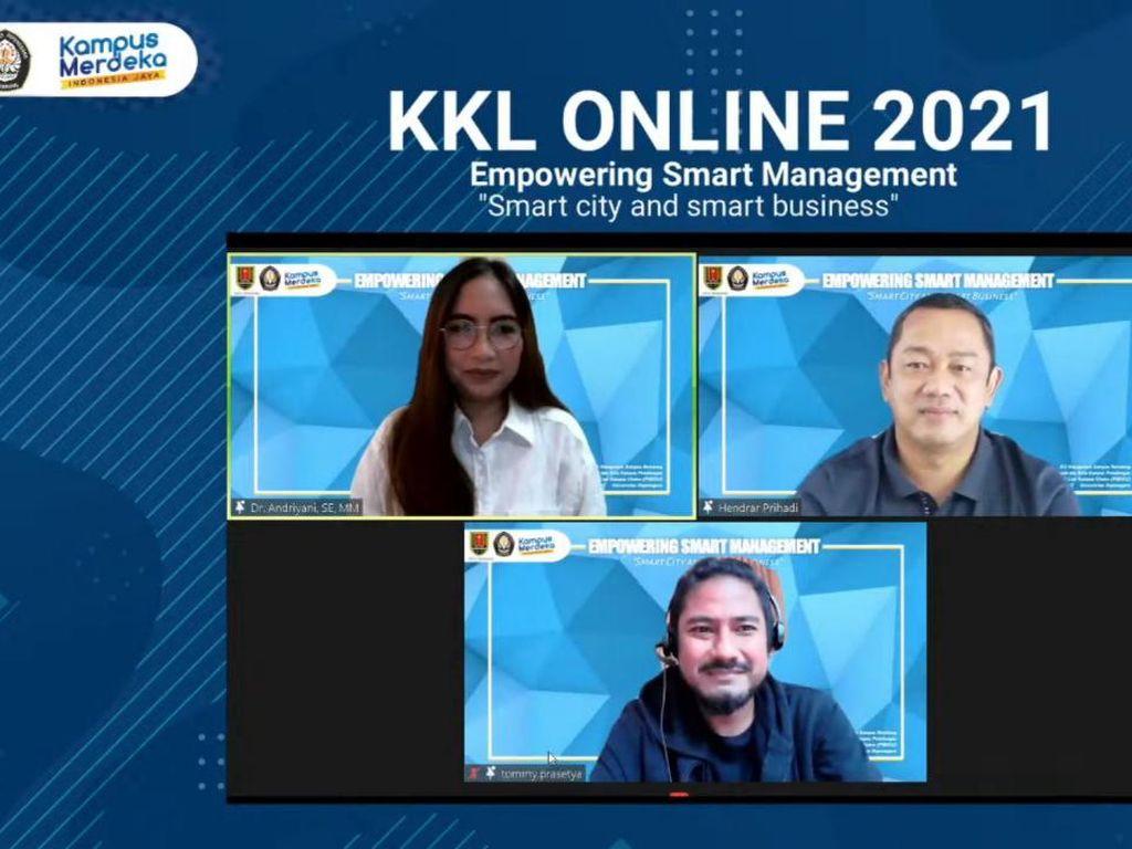 Walkot Semarang Apresiasi Pelaksanaan KKL Online D3 Manajemen Undip
