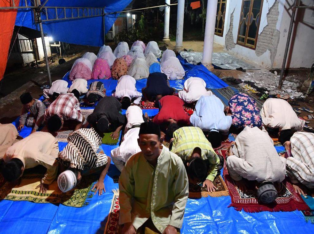 Semangat Ibadah Ramadhan di Lokasi Bencana