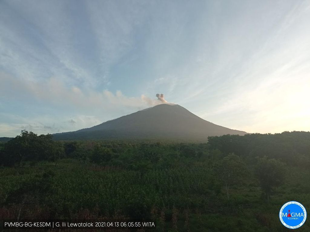 Gunung Ili Lewotolok di NTT Alami 3 Kali Erupsi Pagi Ini