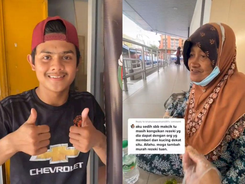 Mulia! Buka Warung Ayam, Remaja Ini Berikan Makanan Gratis ke Lansia