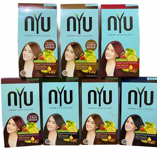 NYU Crème Hair Colour bebas kandungan ammonia sehingga baik untuk rambut/tokopedia.com