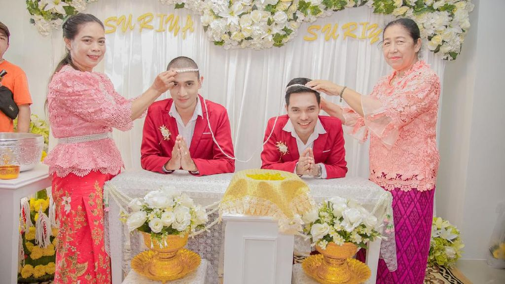 10 Foto Pernikahan Pasangan Gay Thailand yang Dihujat Netizen Indonesia