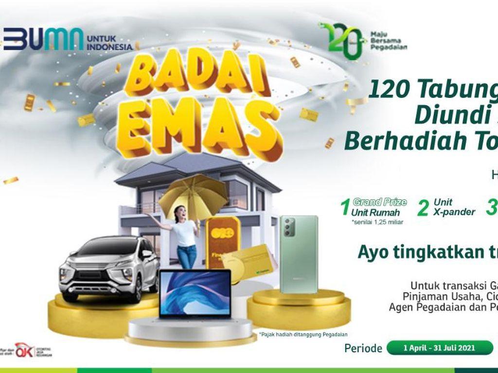 Apresiasi Nasabah Setia, Pegadaian Bagi Hadiah Total Rp 3 Miliar