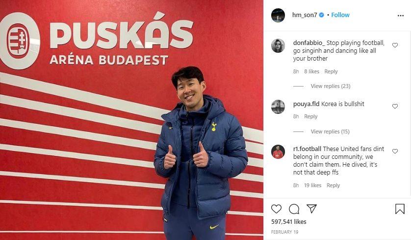 Son Heung-min mendapat serangan rasisme di media sosial usai kekalahan Tottenham Hotspur dari Manchester United, Minggu 11 April 2021.