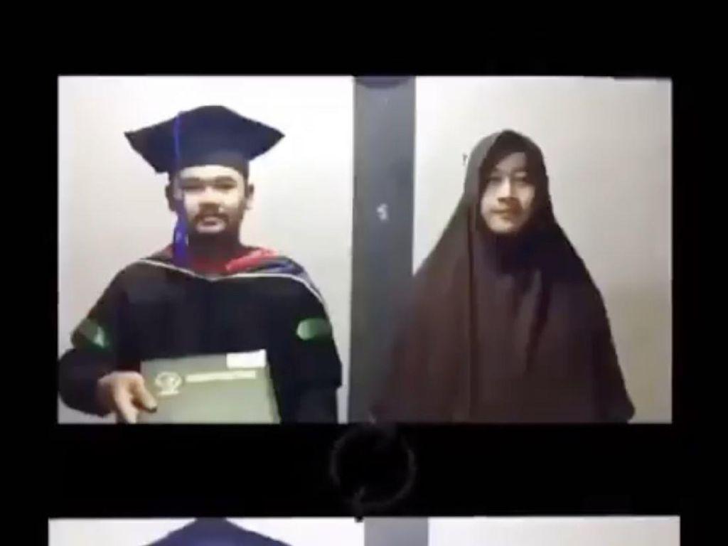 Aksi Mahasiswa Saat Wisuda Online Viral Bikin Ngakak, Akting Jadi Orangtua