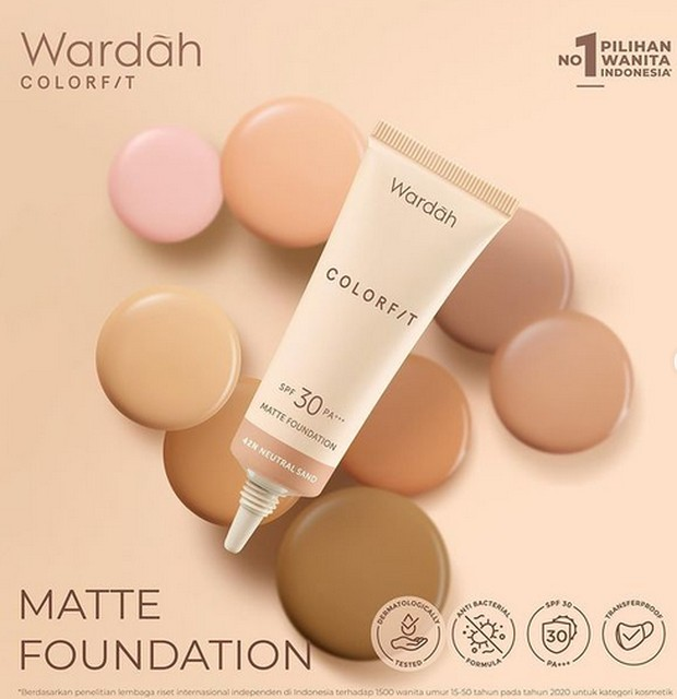 wardah colorfit matte foundation