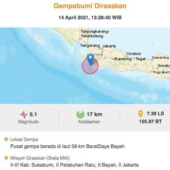 Gempa Bumi di Bayah Banten