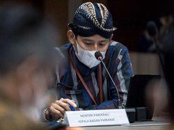 Menteri Populer Versi Survei Aman dari Reshuffle, Sandiaga: Belum Tentu Bro!