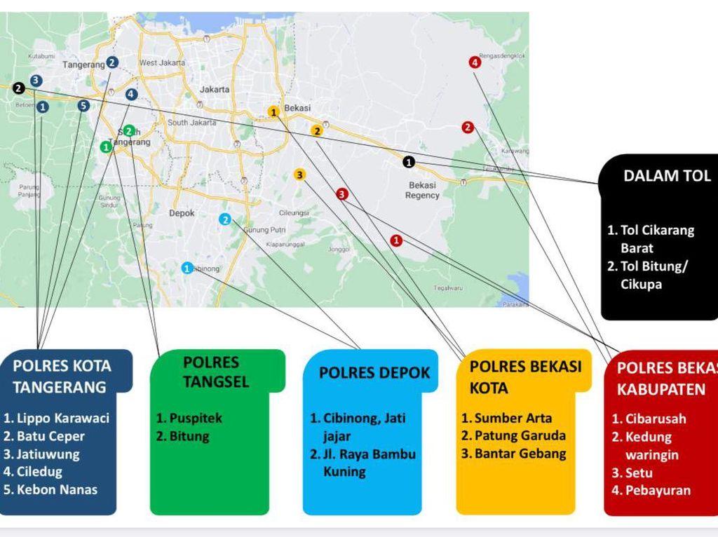 Kapolda Metro Pelototi Jalur Tikus Pemudik Colongan di Bekasi