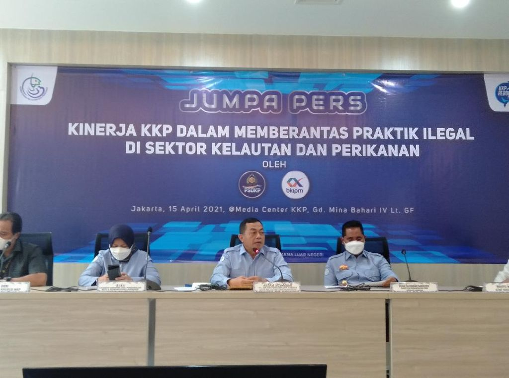 100 Hari Kerja Trenggono, KKP Tangkap 72 Kapal Illegal Fishing