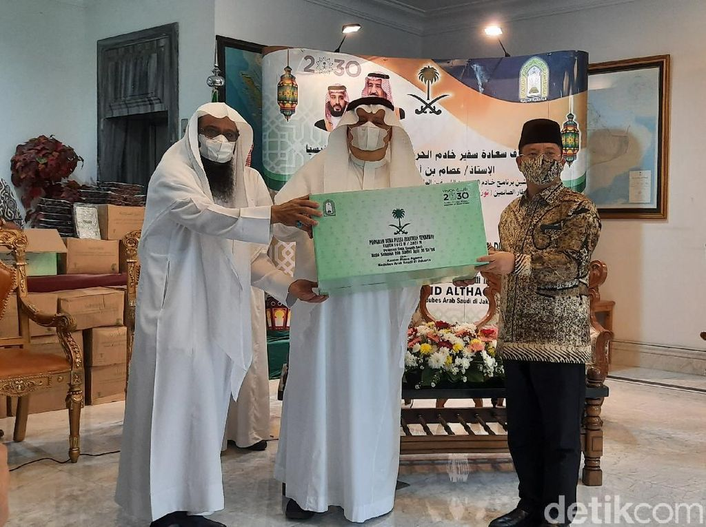 RI Terima Bantuan Ramadhan dari Arab Saudi: 15 Ton Kurma-Paket Sembako