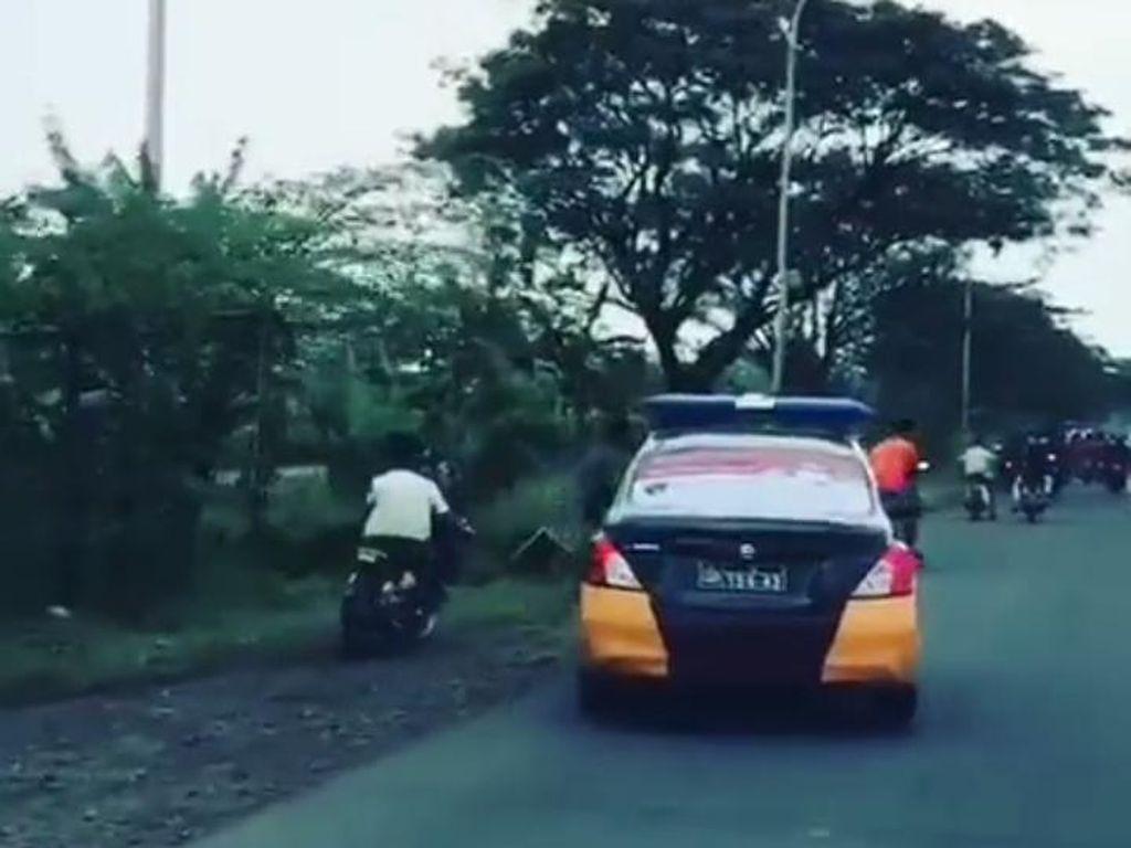 Viral Video Kejar-kejaran Polisi dan Pemotor Saat Razia Balap Liar