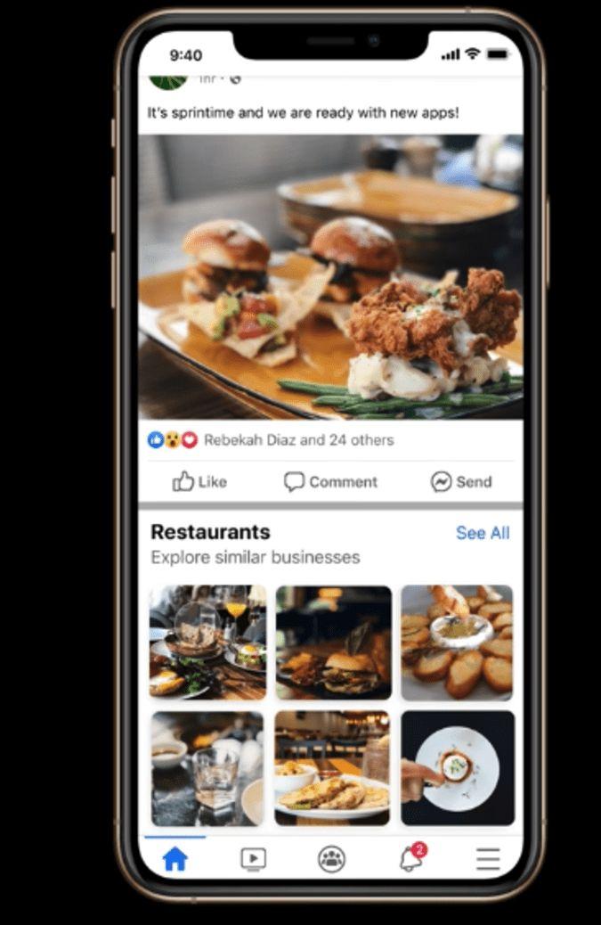 facebook uji fitur rekomendasi bisnis di News Feed