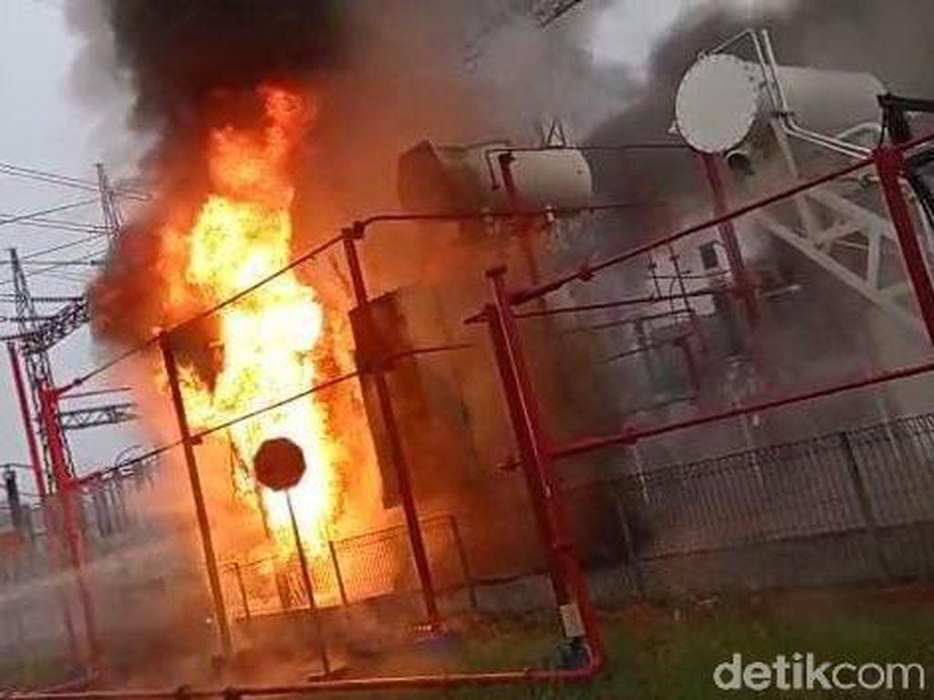 Trafo PLTG CNG Jakabaring Palembang Meledak