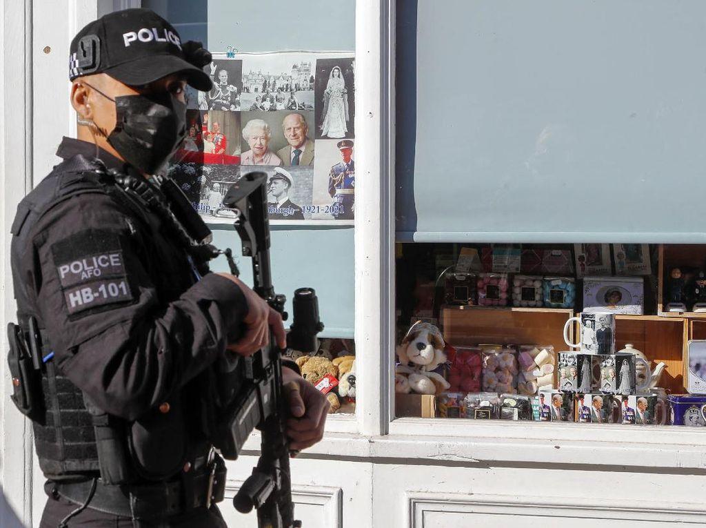 Potret Pengamanan Jelang Pemakaman Pangeran Philip