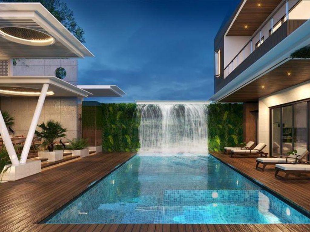 6 Foto Desain Rumah Rachel Vennya, Mewah Abis Ada Air Mancur