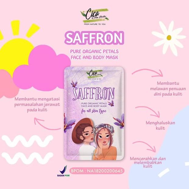 Cica Nature Saffron Mask Organic With Centella/instagram.com/cicanatureindonesia