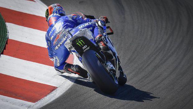 Alex Rins di Kualifikasi MotoGP Portugal 2021.