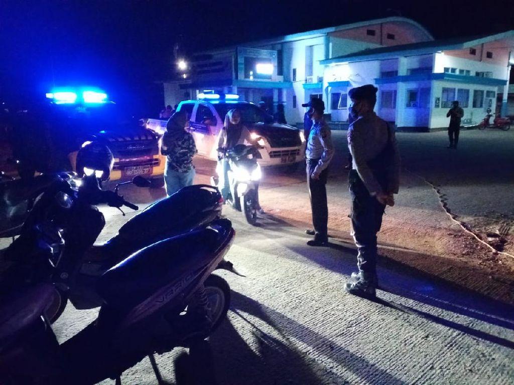 Langgar Jam Malam, Warkop di Pelabuhan Bangsal Ditegur Aparat
