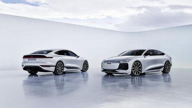 Konsep mobil listrik Audi A6 E-Tron.