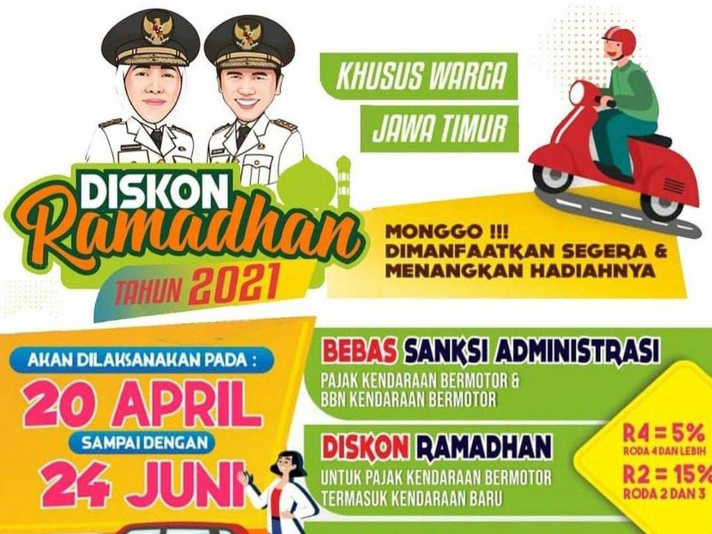 Pemprov Jatim Beri Diskon Ramadhan untuk Pajak Kendaraan
