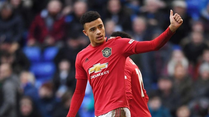 BIRKENHEAD, ENGLAND - JANUARY 26:  Mason Greenwood of Manchester United celebrates after scoring his teams sixth goal during the FA Cup Fourth Round match between Tranmere Rovers and Manchester United at Prenton Park on January 26, 2020 in Birkenhead, England. (Photo by Gareth Copley/Getty Images)