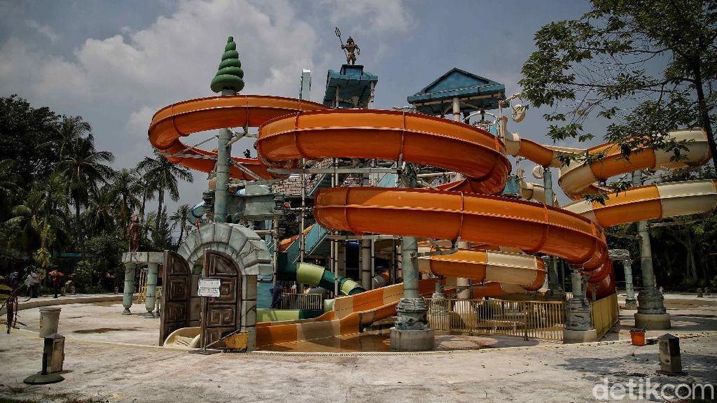 Potret Terkini Kolam Renang Atlantis yang Viral Keruh-Tak Terawat