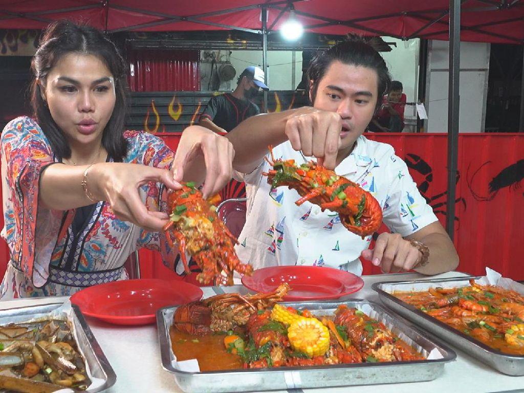 Bikin Laper! Keseruan Mike Ethan dan DJ Katty Makan Seafood dan Ada Hadiah Rp 500 Ribu