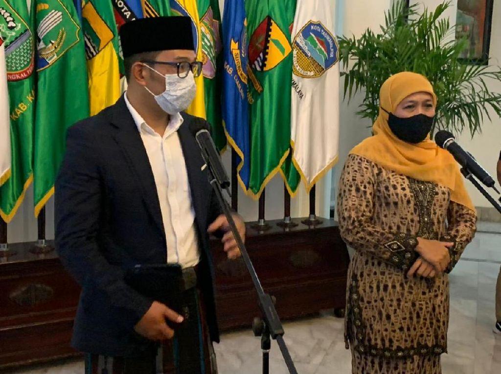 Silaturahmi ke Ridwan Kamil, Khofifah Bantah Ada Pertemuan Politik