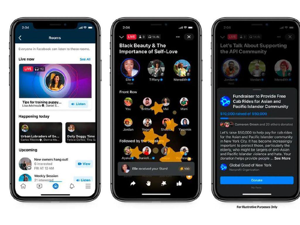 Live Audio Room, Pesaing Clubhouse dari Facebook Dirilis Tengah Tahun Ini