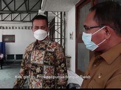 Sidak ke Dinkes, Wagub Ijeck Marah Lihat Lokasi Tes Swab Berantakan